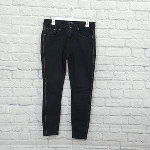 Zara | Black Skinny Jean with Gold Trim